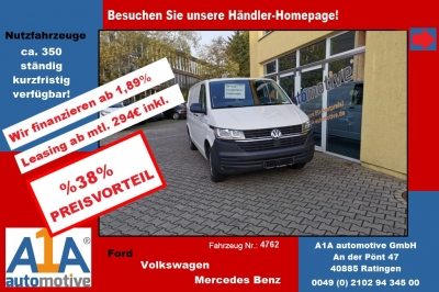 VW T6 Transporter 2,0 TDI T6.1 Euro6D Temp! MY2020 elAu*elFe*AB*HKF* Außenspiegel elektrisch und beheizbar, Beifahrerairbag, Heckklappe mit Fenster beheizbar, elektrische Fensterheber, Start-Stop-System