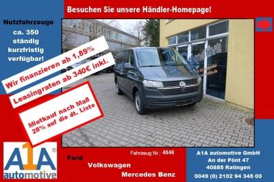 """VW T6 Transporter 2.0 TDI T6.1, 4MOTION 3000 mm *Kli*Rd*GuBo* Außenspiegel elektrisch und beheizbar, Beifahrerairbag,Klimaanlage, Radio """"Composition Audio"""", Gummifussboden mit Trittstufenbeleuchtung"""