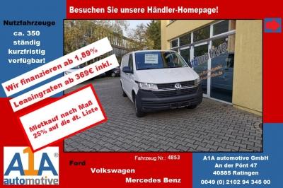 """VW T6 Transporter 2.0TDI T6.1, 4MOTION 3400 mm *Kli*Rd*GuBo*PDC* Außenspiegel elektrisch und beheizbar, Beifahrerairbag, ParkPilot im Heckbereich, Klimaanlage, Radio """"Composition Audio"""""""