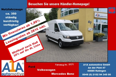 VW CRAFTER 30 Kasten 3640mm 4MOTION *elAu*Rrad*DoSi*BT*Berganfahr-Assistent, Seitenwind-Assistent, Fensterheber elektrisch, Zentralverriegelung mit Fernbedienung, Multifunktionsanzeige Plus