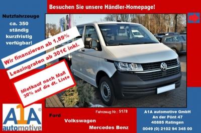 """VW T6 Transporter T6.1 PritscheDoKa 4MOTION !Rrad*Kli*elAu*BT* Airbag Beifahrerseite, Pritschenaufbau, Klimaanlage, Radio """"Composition Audio"""", Außenspiegel elektrisch,Fensterheber elektrisch, Zentralveriegelung"""