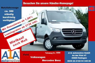 Mercedes-Benz Sprinter Pritsche Doka 214 Kompakt *ZV*elFe*Rd* Seitenwind-Assistent, Berganfahr-Assistent, Fensterheber elektrisch, Notrufsystem, Partikelfilter, Radio MB Audiosystem