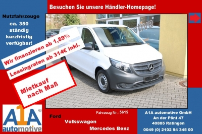 Mercedes-Benz Vito 116 CDI Extra Lang 3,05t *AB*ZV*elFe* Airbag Beifahrer, Fensterheber elektrisch, Seitenwind-Assistent, Müdigkeitsensor, Berganfahrhilfe, Sommerreifen