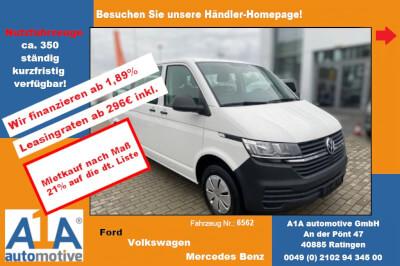 VW Transporter T6.1 Kombi 3000mm *Kli*DAB*PDC*HFTF* Lederlenkrad mit Multifunktion, ParkPilot im Heckbereich, 12-V-Steckdose, Klimaanlage im Fahrerhaus mit elektronischer RegelungHeckflügeltür mit Fenster