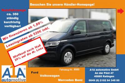 VW Multivan T6.1 Trendline *Navi*Kli*CC*LED*PDC* Navigationssystem Discover Media, -Paket Licht + Sicht, Lichtassistent, Regensensor, Diebstahl-Warnanlage, Frontscheibe Dämmglas, Tempomat, Klimaautomatik Climatro