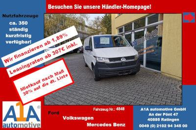 """VW T6 Transporter 2.0 TDI T6.1, 4MOTION 3000 mm elAu*elFe*AB*HK* Außenspiegel elektrisch und beheizbar, Beifahrerairbag, Gummibodenbelag im Fahrerhaus, elektrische Fensterheber, Radio """"Composition Audio"""""""