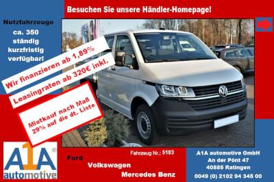 """VW T6 Transporter T6.1 PritscheDoKa 4MOTION !Rrad*Kli*elAu*BT! Airbag Beifahrerseite, Pritschenaufbau, Klimaanlage, Radio """"Composition Audio"""", Außenspiegel elektrisch,Fensterheber elektrisch, Zentralveriegelung"""