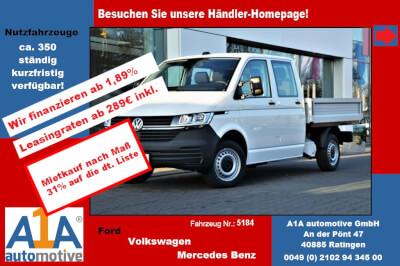 """VW T6 Transporter T6.1 PritscheDoKa !Rrad*Kli*elAu*BT! Airbag Beifahrerseite, Pritschenaufbau, Klimaanlage, Radio """"Composition Audio"""", Außenspiegel elektrisch,Fensterheber elektrisch, Zentralveriegelung"""