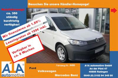 VW Caddy Maxi Cargo 2.0 TDI MJ2021 *Rd*GuBo*Kli*ML* Radio ''Composition Audio'' mit 6,5'' Touchdisplay, Trennwand (hoch) mit Fenster und Gitter, Heckflügeltüren mit Fenster, Gummibodenbelag im Laderaum, Klimaa