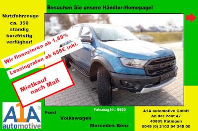 Ford Ranger Doppelkabine 4x4 Raptor *RFK*AHK*RS*SHZ*Kli*PDC* Rückfahrkamera, Anhängerkupplung, Navigationssystem, Regensensor, Sitzheizung, Intelligenter Geschwindigkeits-Begrenzer